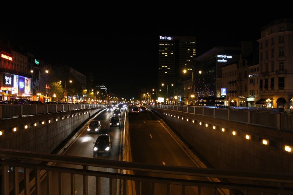 Брюссель. Ночной город