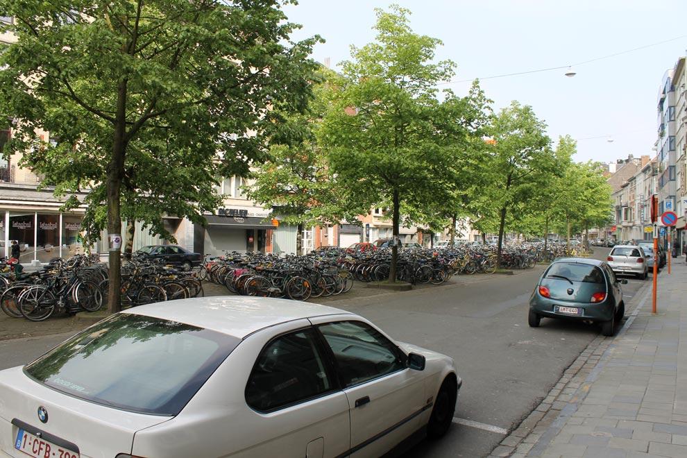 Гент. Велосипедная масса