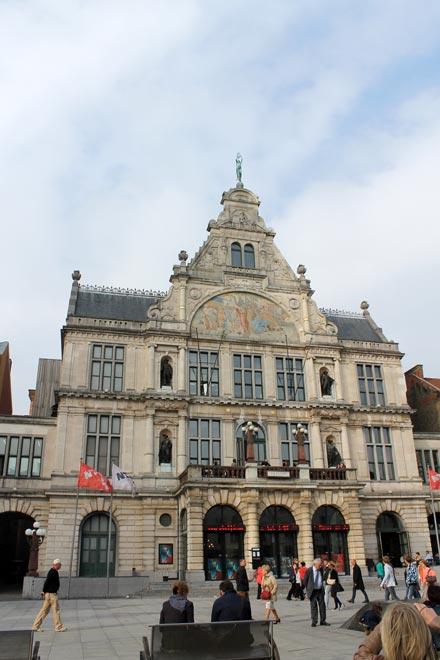 Гент. Передышка на площади Sint-Baafsplein