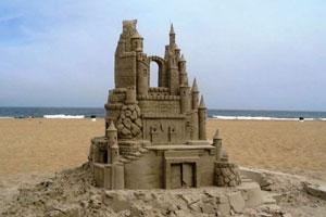Замки из песка в Малагуфе