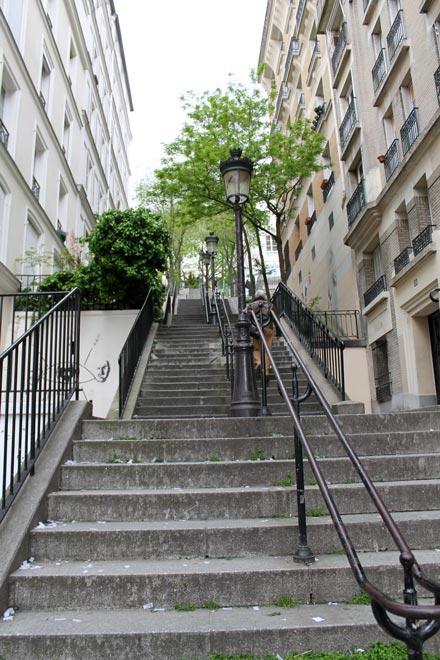 Париж. Лестницы Монмартра
