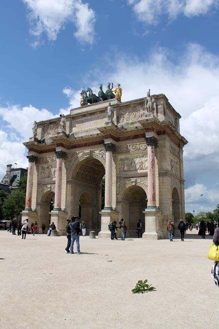 Париж. Малая Триумфальная арка на площади Каррузель