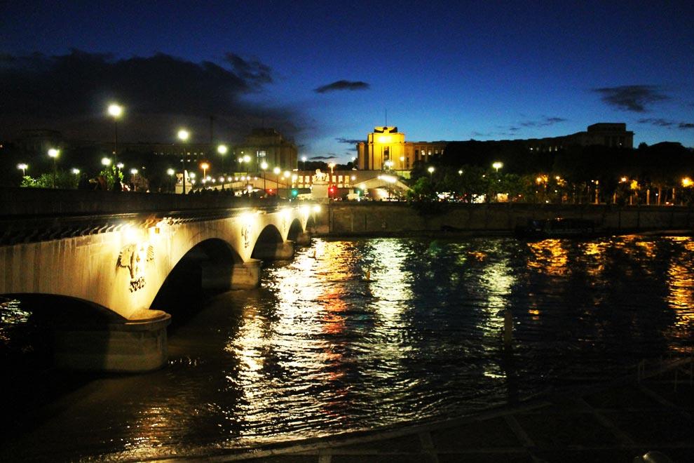 Париж. Йенский мост ночью