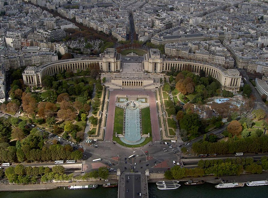 Париж. Дворец Шайо. Вид с Эйфелевой башни
