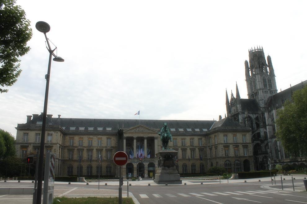 Площадь Шарля де Голля в Руане
