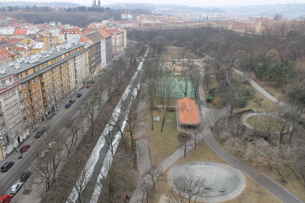 Прага. Вид с Нусельского моста