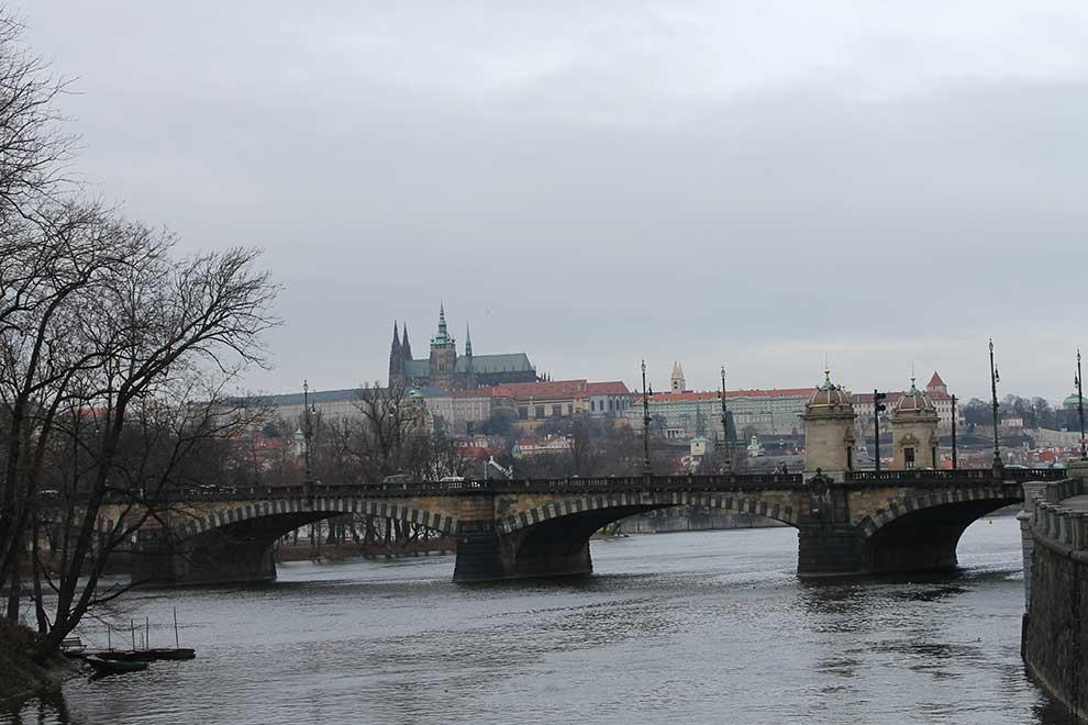 Прага. Вид на Пражский град