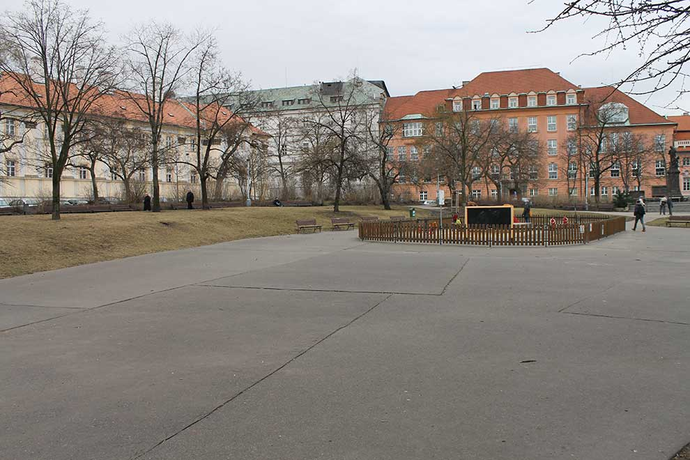 Прага. Карлова площадь. Прекрасный зимний вид
