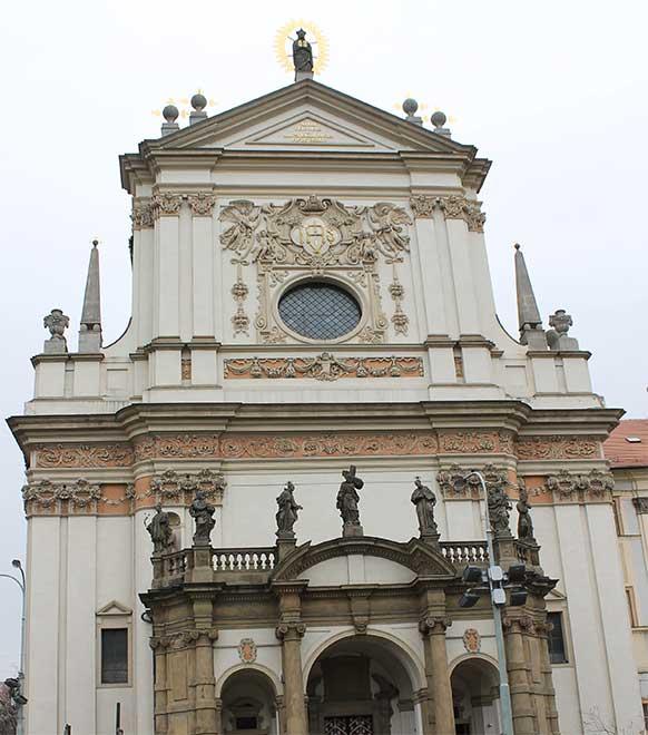 Прага. Карлова площадь. Церковь Святого Игнатия Лойолы