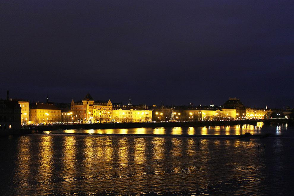 Прага. Вечерний вид с Карлова Моста