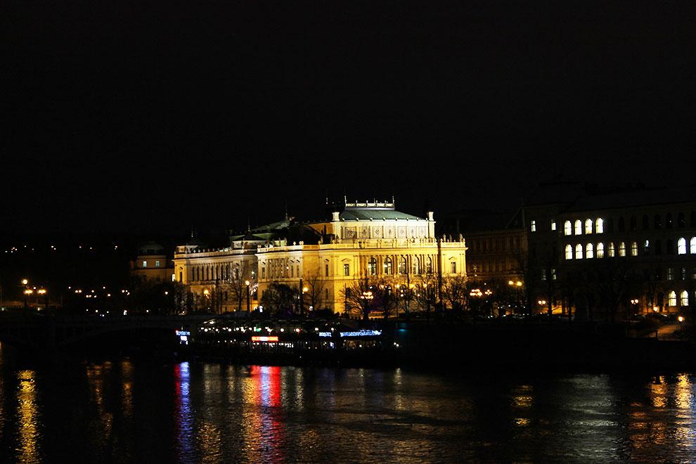 Прага. Вечерний вид с Карлова Моста - 2