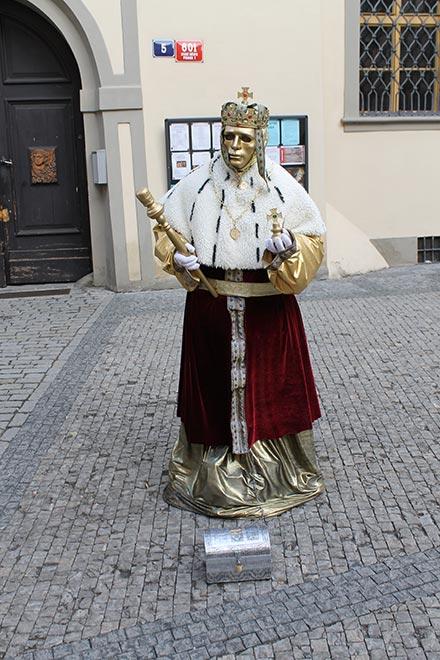 Прага. Уличный артист