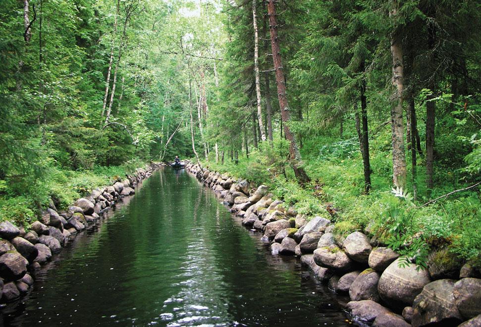 Россия. Каналы Соловецких островов
