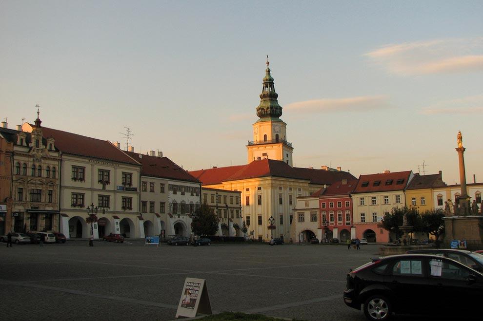 Чехия. Кромержиж. Центральная площадь (Velké náměstí)
