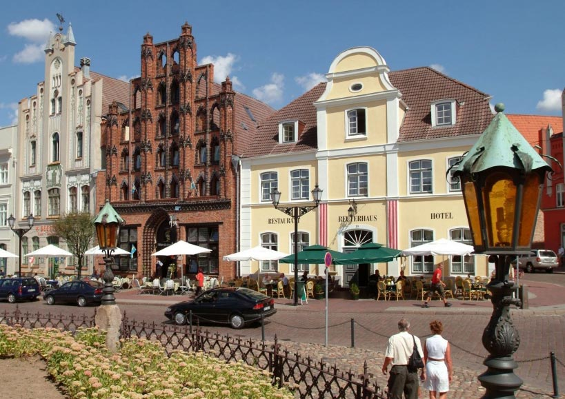 Центральная площадь Висмара. Германия