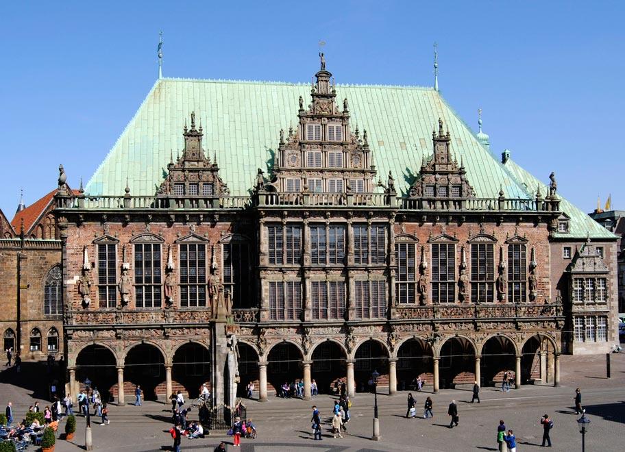 Здание Бременской ратуши. Германия