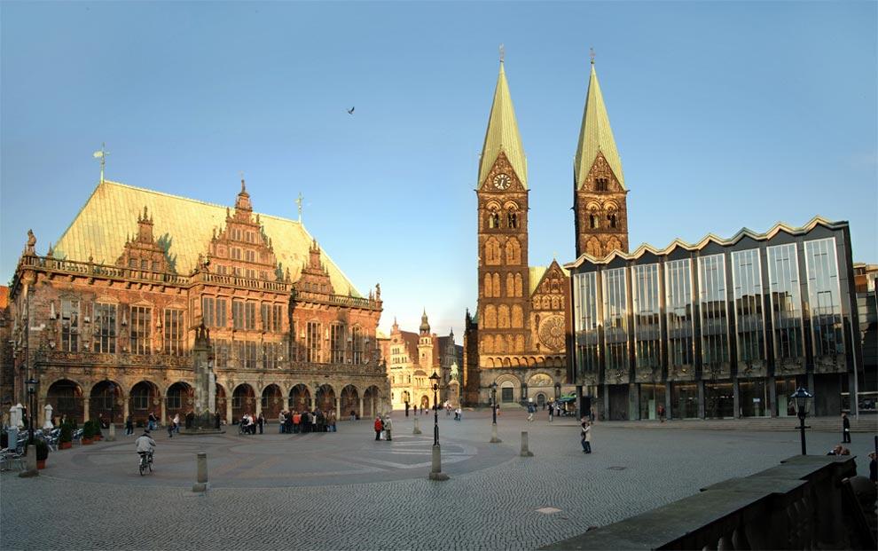 Рыночная площадь Бремена. Германия