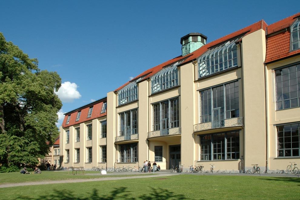 Здание школы Баухауз в Веймаре