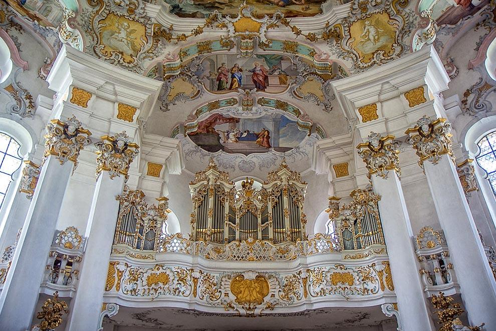 Паломническая церковь в Висе - баварское рококо
